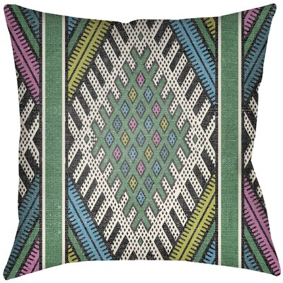 Dugger Indoor/Outdoor Throw Pillow Size: 16 H x 16 W, Color: Hot Pink/Teal