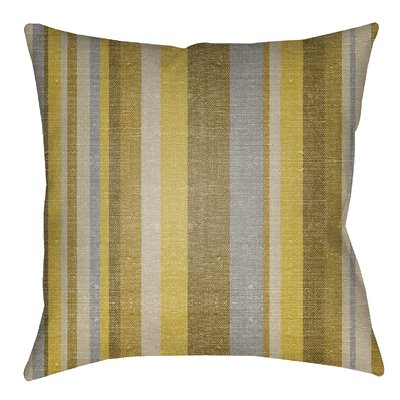 Zebrowski Indoor/Outdoor Throw Pillow Size: 26 H x 26 W, Color: Gold/Bright Yellow