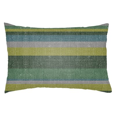 Zebrowski Indoor/Outdoor Lumbar Pillow Color: Kelly Green/Forest Green