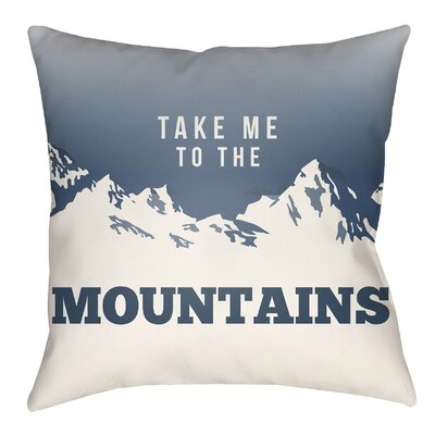 Lodge Cabin Mountain Indoor/Outdoor Throw Pillow Size: 22 H x 22 W