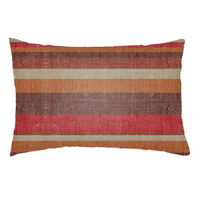 Zebrowski Indoor/Outdoor Lumbar Pillow Color: Poppy Red/Burgundy