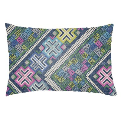 Kalish Indoor/Outdoor Lumbar Pillow Color: Royal Blue/Fuchsia