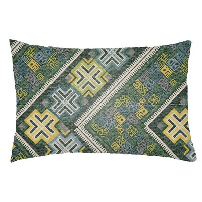 Kalish Indoor/Outdoor Lumbar Pillow Color: Kelly Green/Teal