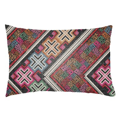 Kalish Indoor/Outdoor Lumbar Pillow Color: Hot Pink/Kelly Green