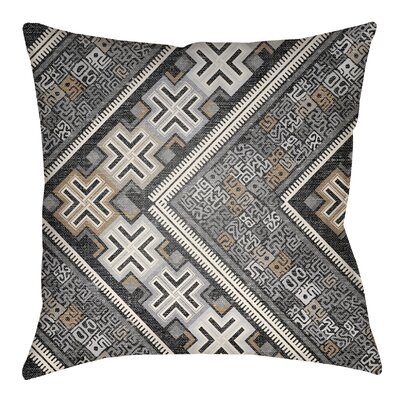 Kalish Indoor/Outdoor Throw Pillow Size: 20 H x 20 W, Color: Gray/Light Gray