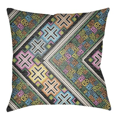 Kalish Indoor/Outdoor Throw Pillow Size: 18 H x 18 W, Color: Fuchsia/Aqua