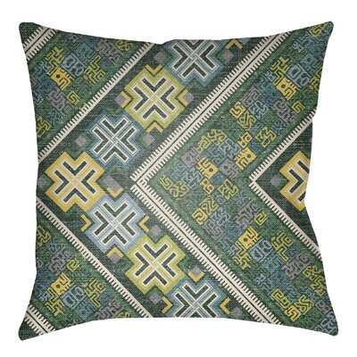 Kalish Indoor/Outdoor Throw Pillow Size: 20 H x 20 W, Color: Kelly Green/Teal
