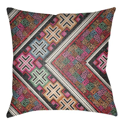 Kalish Indoor/Outdoor Throw Pillow Size: 20 H x 20 W, Color: Hot Pink/Kelly Green