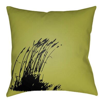 Litchfield Wind Indoor/Outdoor Throw Pillow Color: Teal/Onyx Black, Size: 20 H x 20 W