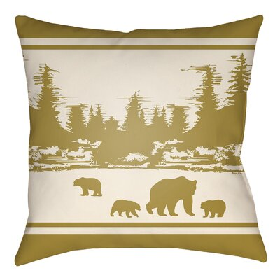 Livesay Woodland Indoor/Outdoor Throw Pillow Size: 20 H x 20 W, Color: Mustard/Beige