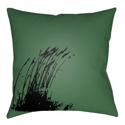 Litchfield Wind Indoor/Outdoor Throw Pillow Size: 20 H x 20 W, Color: Kelly Green/Onyx Black