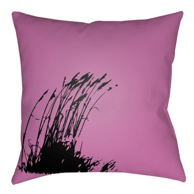 Litchfield Wind Indoor/Outdoor Throw Pillow Size: 20 H x 20 W, Color: Fuchsia/Onyx Black