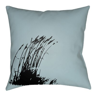 Litchfield Wind Indoor/Outdoor Throw Pillow Size: 20 H x 20 W, Color: Light Blue/Onyx Black