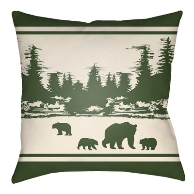 Livesay Woodland Indoor/Outdoor Throw Pillow Size: 20 H x 20 W, Color: Forest Green/Beige