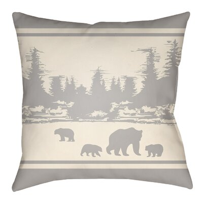 Livesay Woodland Indoor/Outdoor Throw Pillow Size: 20 H x 20 W, Color: Light Gray/Beige