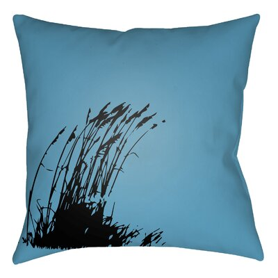 Litchfield Wind Indoor/Outdoor Throw Pillow Size: 18 H x 18 W, Color: Aqua/Onyx Black