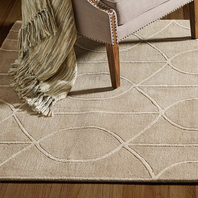 Abbey Hand-Tufted Beige Area Rug Rug Size: Rectangle 76 x 96