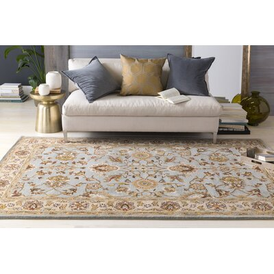Plemmons Stone Blue Area Rug Rug Size: Rectangle 4 x 6