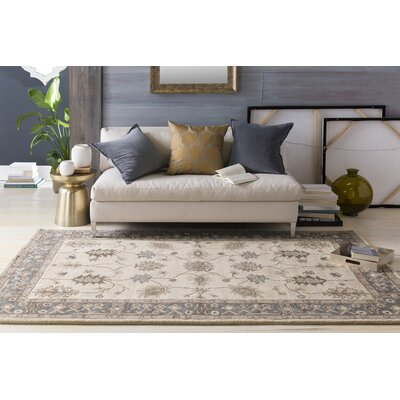 Middleton Beige Willow Area Rug Rug Size: Round 8