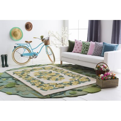 Lackey Handmade Yellow Area Rug Rug Size: Rectangle 9 x 13