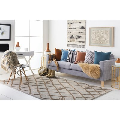 Juergens Hand-Tufted Taupe Area Rug Rug Size: Rectangle 5 x 8