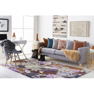 Ginyard Hand-Tufted Purple Area Rug Rug Size: Rectangle 8 x 10