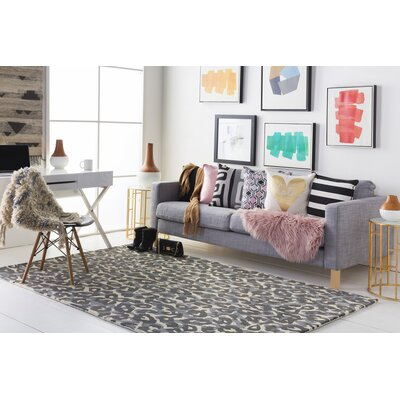 Geology Addison Hand-Tufted Gray Area Rug Rug Size: 5 x 8