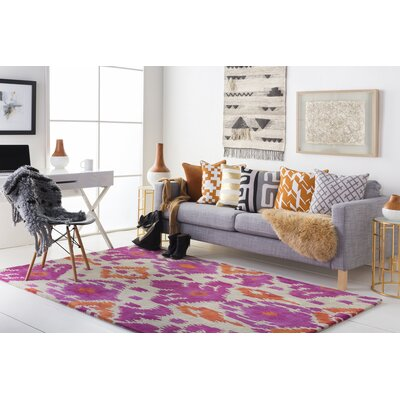 Gioia Hand-Tufted Pink/Orange Area Rug Rug Size: Rectangle 9 x 13