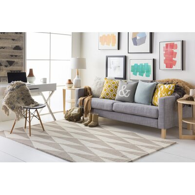 Yowell Hand-Crafted Gray/Light Gray Area Rug Rug Size: Runner 23 x 10