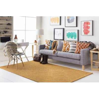 Hermitage Cooper Hand-Tufted Orange Area Rug Rug Size: Runner 2 x 8