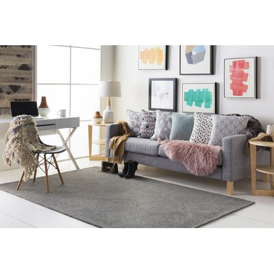 Bloch Hand-Tufted Charcoal/Gray Area Rug Rug Size: Runner 2 x 8