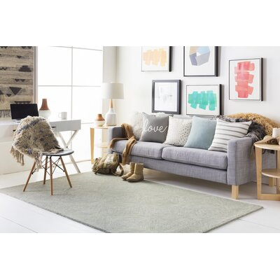 Hermitage Cooper Hand-Tufted Light Gray Area Rug Rug Size: Runner 2 x 8