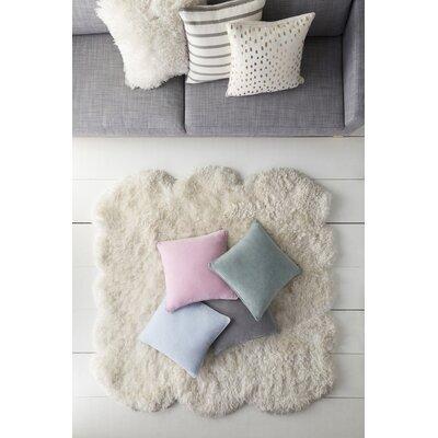 Baylie Solid Cotton Velvet Pillow Cover Color: Light Blue