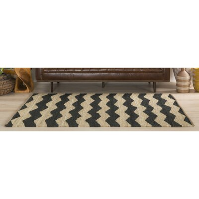 Ayers Black & Ivory Area Rug Rug Size: Rectangle 9 x 12