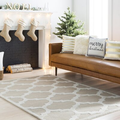 Boise Hand-Tufted Beige Area Rug Rug Size: Rectangle 4 x 6