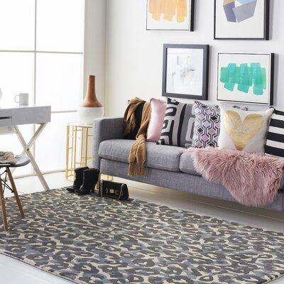 Geology Addison Hand-Tufted Gray Area Rug Rug Size: 8 x 10