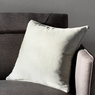 Baylie Square Cotton Velvet Pillow Cover Color: Mint