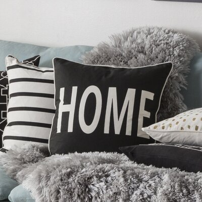 Carnell Home Cotton Throw Pillow Cover Color: Black/ White