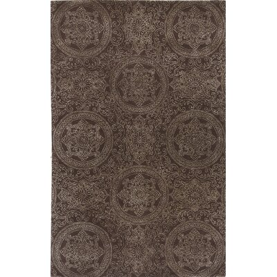 Serendipity Hampton Hand-Tufted Chocolate Area Rug Rug Size: 5 x 8