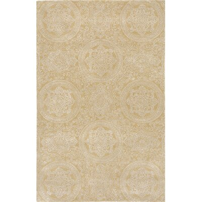 Serendipity Hampton Hand-Tufted Maize Area Rug Rug Size: 5' x 8'