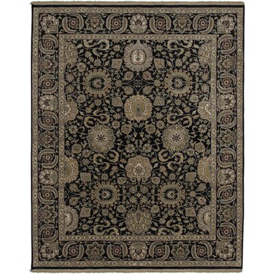 Isidore Ebony Area Rug Rug Size: Rectangle 6 x 9