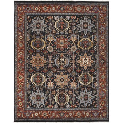 Easterling Navy/Rust Area Rug Rug Size: 9 x 12