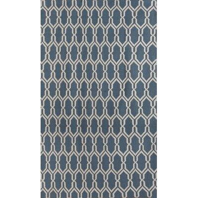 Welborn Dark Blue Area Rug Rug Size: 5 x 8