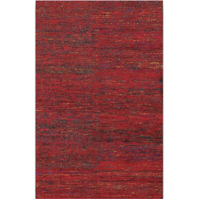 Sherilyn Red Rug Rug Size: 3 x 5