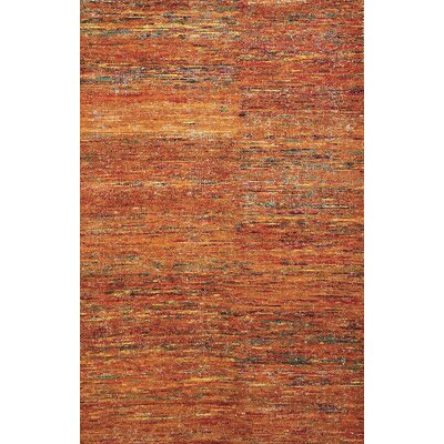 Chic Orange Rug Rug Size: 2' x 3'