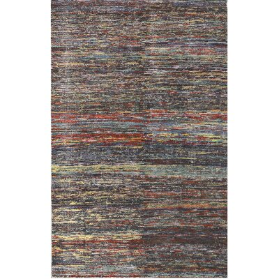 Amer Rugs Chic Handwoven Flatweave Silk Gray/red Area Rug