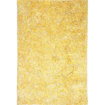 Cozy Yellow Area Rug Rug Size: 76 x 96