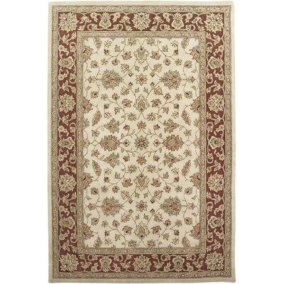 Mosaic Ivory/Red Santa Maria Rug Rug Size: 76 x 96