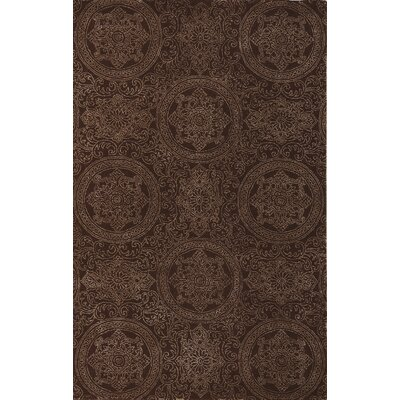 Earles Chocolate Area Rug Rug Size: 8 x 11