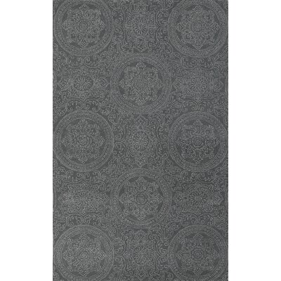Earles Silver Blue Area Rug Rug Size: 76 x 96
